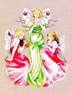 画像1: Mirabilia(ミラビリア) - Three For Tea クロスステッチ 図案(チャート) (1)