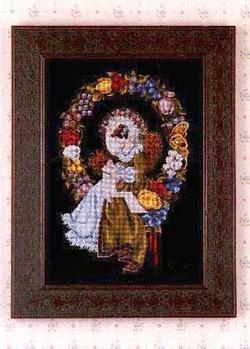 画像1:  L&L(Lavender & Lace) - Lady of the Thread クロスステッチ図案(チャート) (1)