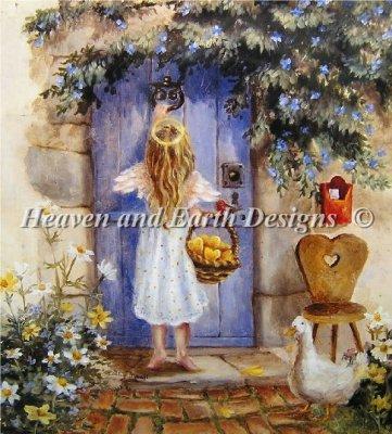 画像1: HAED(Heaven and Earth Designs)-Mini Angel At The Doorクロスステッチ図案 (1)