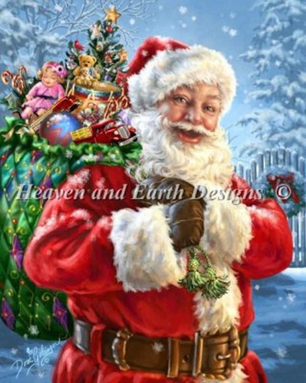 画像1: クロスステッチ図案Santas Magic Bag-HAED(Heaven and Earth Designs) (1)