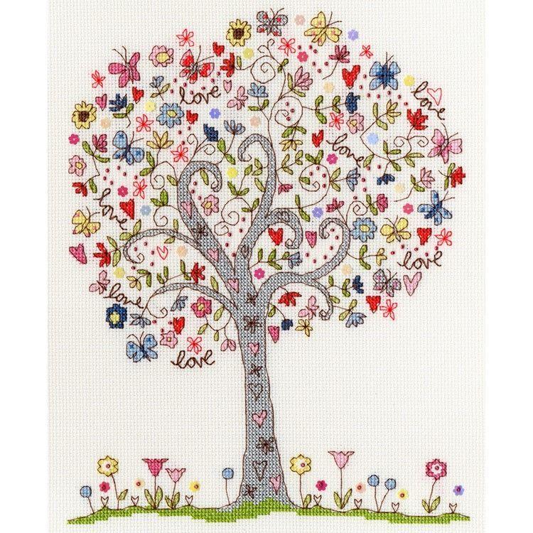 画像1: Bothy Threads-Love Tree クロスステッチ キット (1)