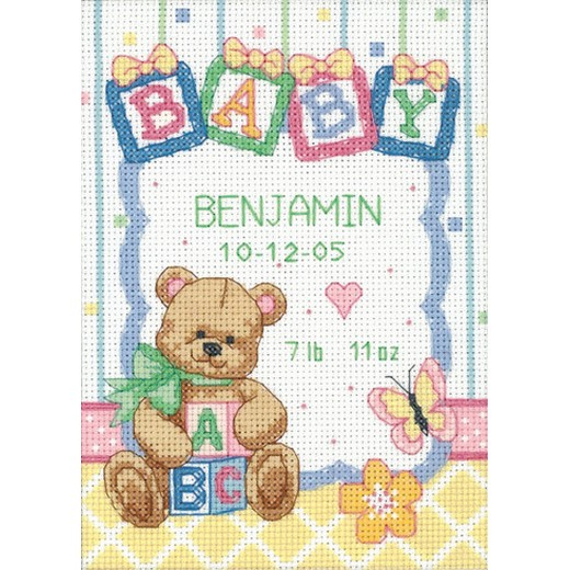 画像1: Dimensions Baby Hugs - Baby Blocks Birth Record (1)