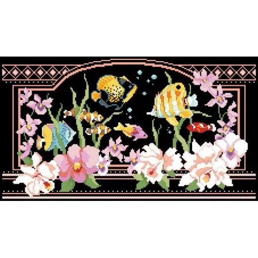 画像1: Kooler Design Studio - Flowers - Tropical Fantasy クロスステッチキット (1)