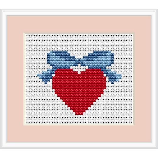 画像1: Luca-S - For Begginers - Heart クロスステッチ キット (1)