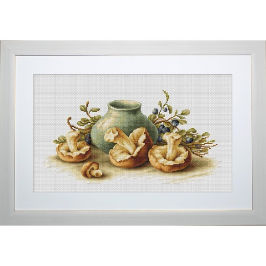 画像1: Luca-S - Still Life - Still Life With Mushrooms クロスステッチ キット (1)