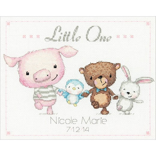 画像1: Dimensions - Baby and Children - Little One Birth Record クロスステッチ キット (1)