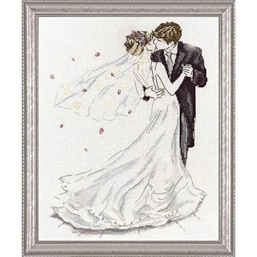 画像1: Design Works - Wedding Couple クロスステッチ キット (1)