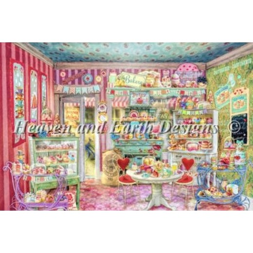 画像1: クロスステッチ キットThe Little Cake Shop - HAED(Heaven And Earth Designs)   (1)