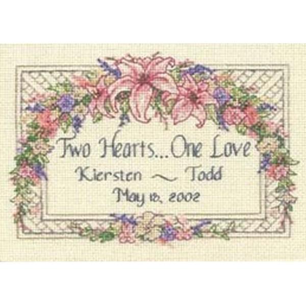 画像1: Dimensions - Mini - One Love Wedding Record クロスステッチ キット (1)