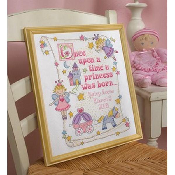 画像1: クロスステッチ キット Princess Birth Record-Bucilla (1)