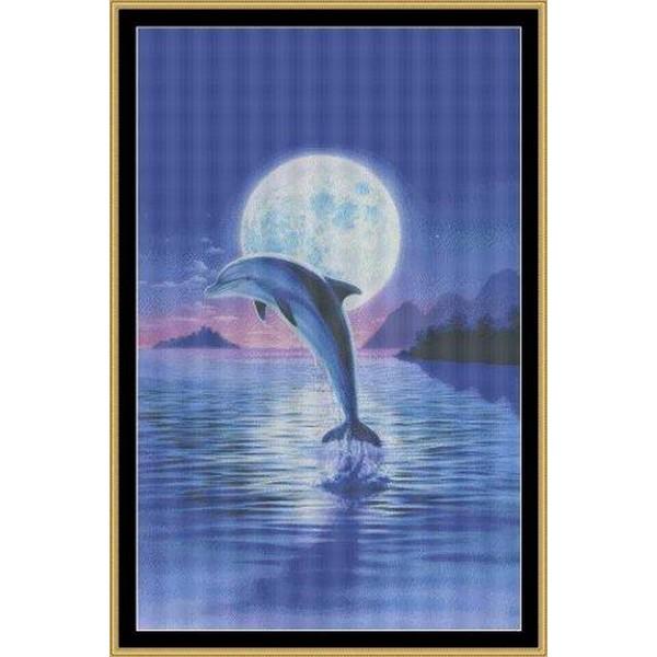 画像1: Mystic Stitch - Day Of The Dolphin クロスステッチキット (1)