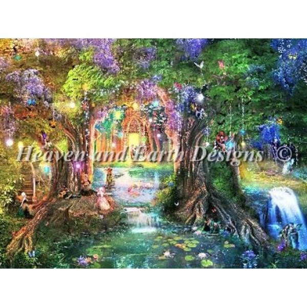 画像1: HAED(Heaven And Earth Designs) -Mini The Butterfly Ball クロスステッチ キット (1)