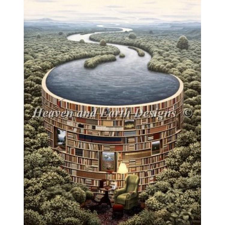 画像1: HAED(Heaven And Earth Designs) - Mini Bibliodame クロスステッチ キット (1)