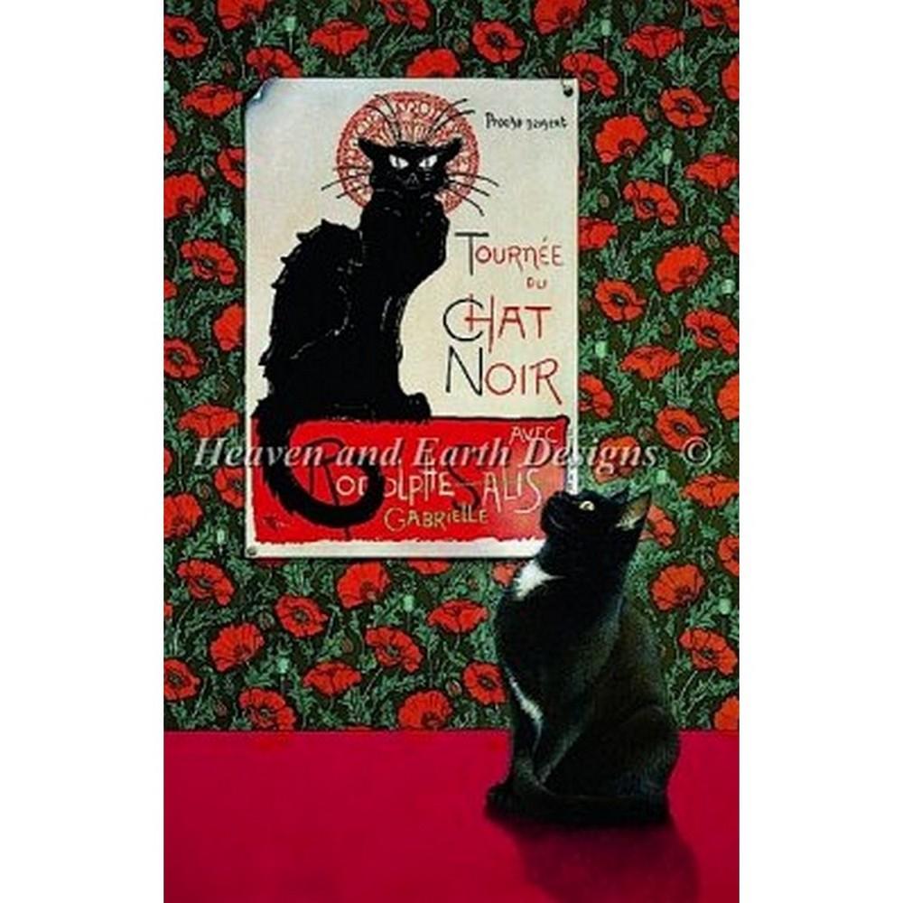 画像1: クロスステッチ キットTournee Du Chat Noir-HAED(Heaven And Earth Designs)  (1)