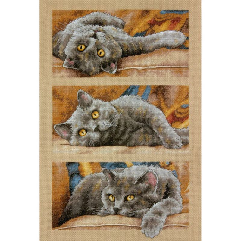 画像1: Dimensions-Max the Cat クロスステッチ キット (1)