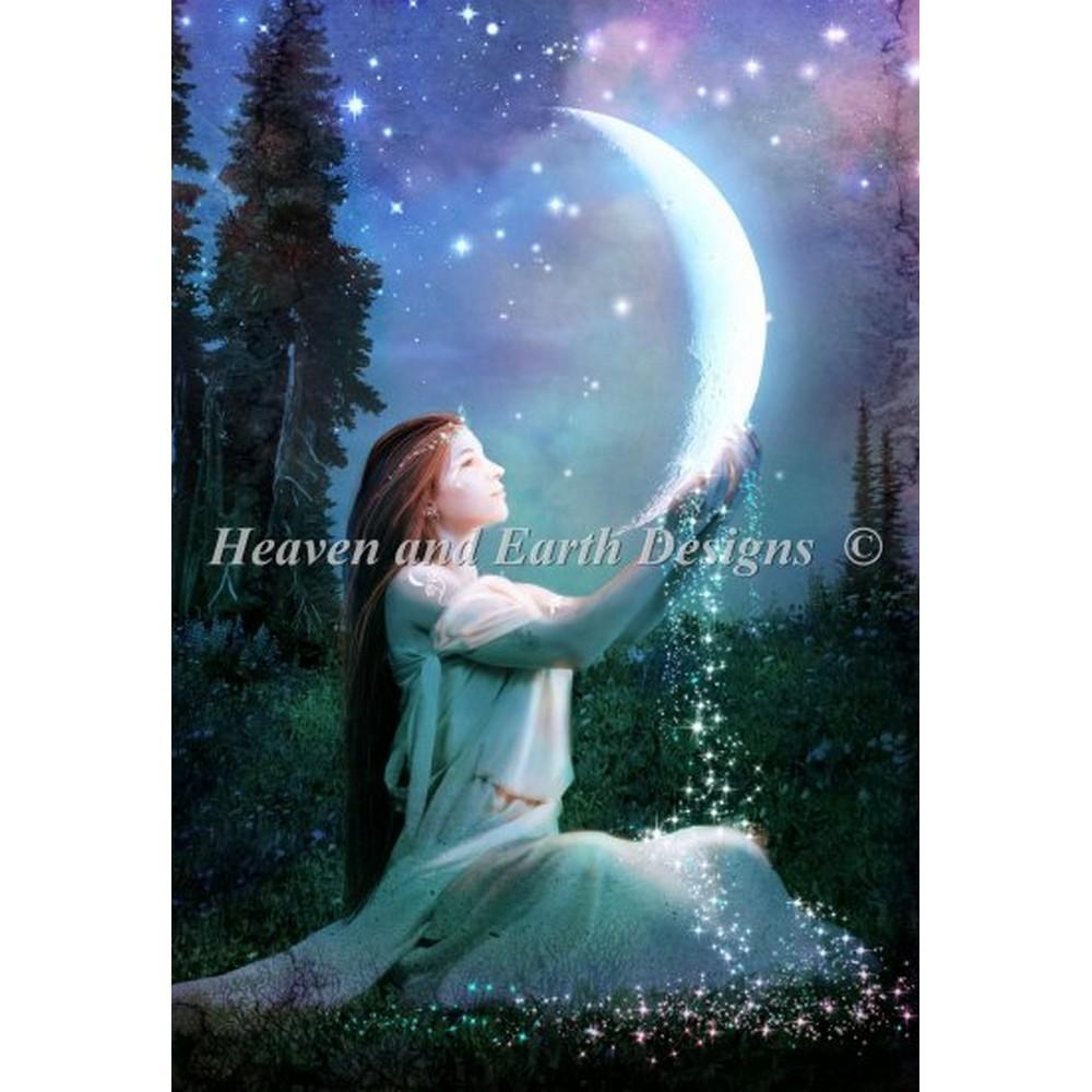 画像1: クロスステッチキット Mooncharmer ベラーナ20ct  -  HAED(Heaven And Earth Designs)  (1)