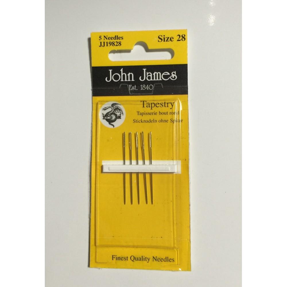 画像1: Tapestry Needles by John James Size 28 クロスステッチ刺繍針 (1)