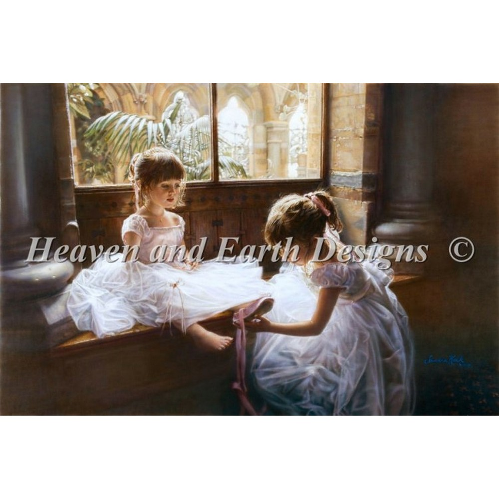画像1: Ballerina Sisters -  HAED(Heaven And Earth Designs) クロスステッチキット (1)