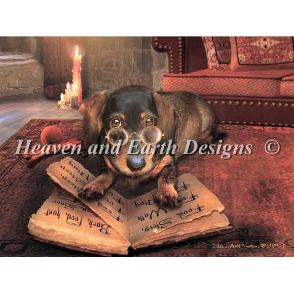 画像1: クロスステッチキットMini the Book of Dog Talk-Heaven and Earth Designs(HAED) (1)