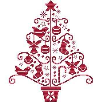 画像1: Cross Stitch Wonders - Folk Art Tree Two クロスステッチキット (1)
