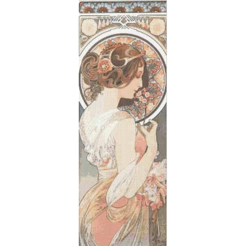 画像1: La Fleur-Mucha (ミュシャ) クロスステッチキット14ctアイーダ-Mystic Stitch (1)