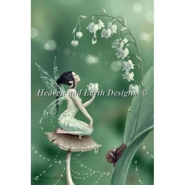 画像1: HAED(Heaven And Earth Designs) - Mini Lily of The Valley クロスステッチ キット (1)