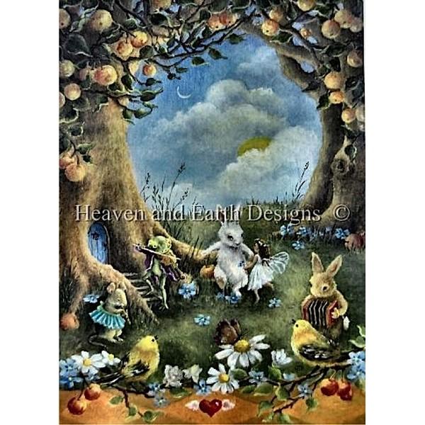 画像1: HAED(Heaven and Earth Designs)-A Woodland Danceクロスステッチ キット (1)