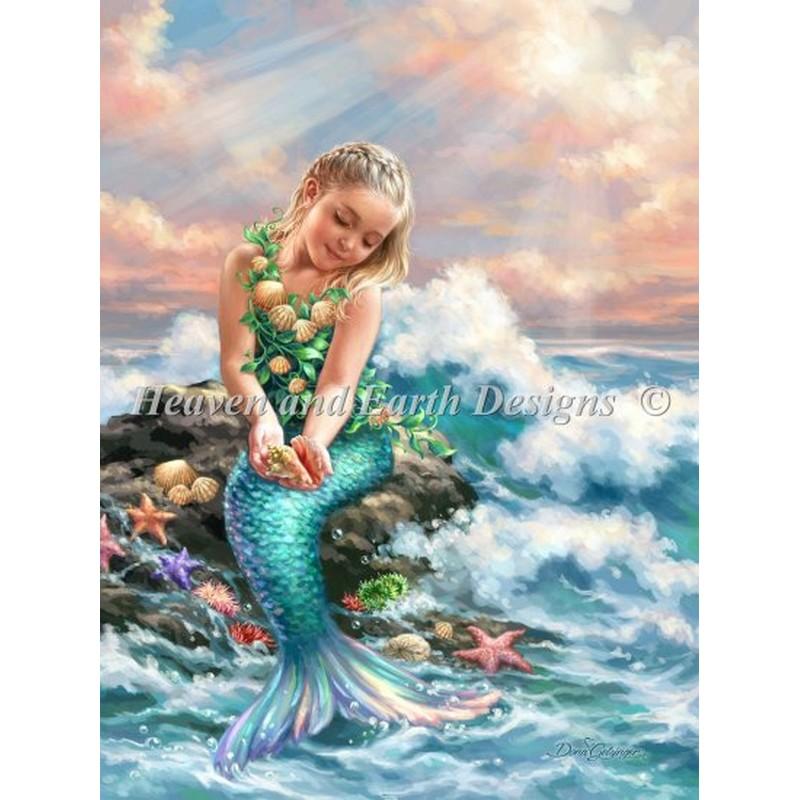 画像1: Mini Princess Of The Sea-HAED(Heaven and Earth Designs)クロスステッチ キット (1)