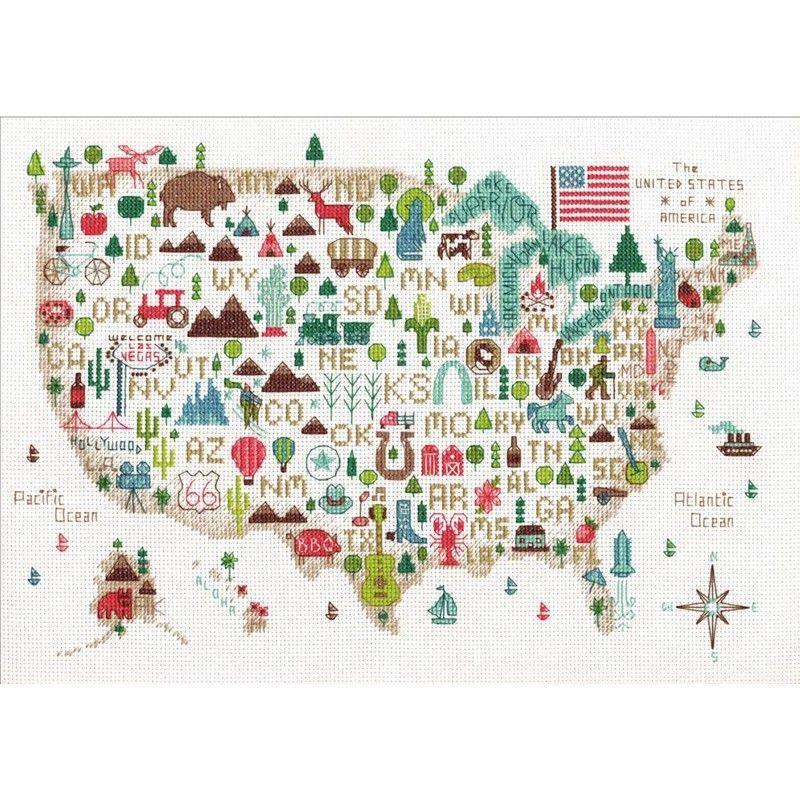画像1: Illustrated USA -Dimensions クロスステッチ キット (1)