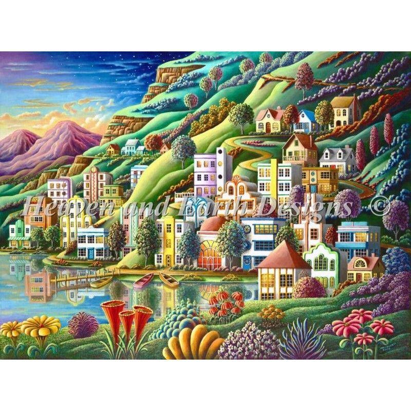 画像1: クロスステッチ図案Hidden Harbor Color Expansion- HAED(Heaven and Earth Designs) (1)