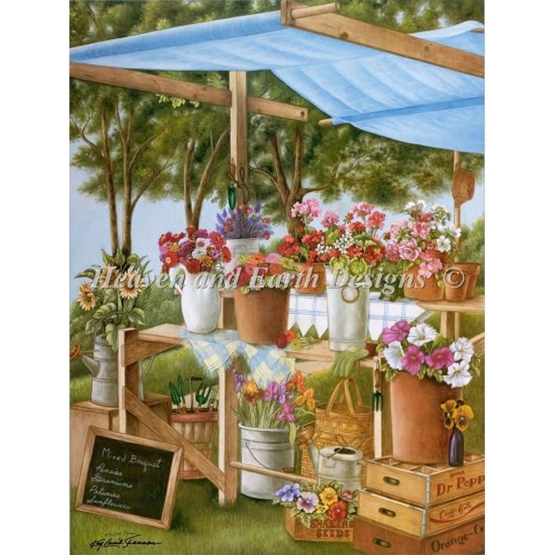 画像1: クロスステッチ キットMixed Bouquets Stand-HAED(Heaven and Earth Designs) (1)