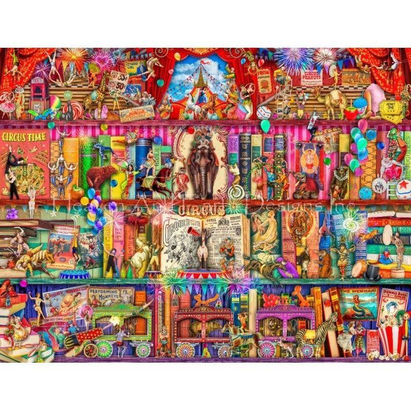 画像1: クロスステッチ キット Supersized The Marvelous Circus Max Colors 28ct-HAED(Heaven and Earth Designs) (1)