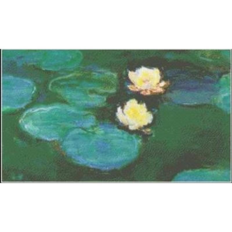画像1: Mystic Stitch -Water Lilies III- Monet(モネ) 18ct クロスステッチキット (1)