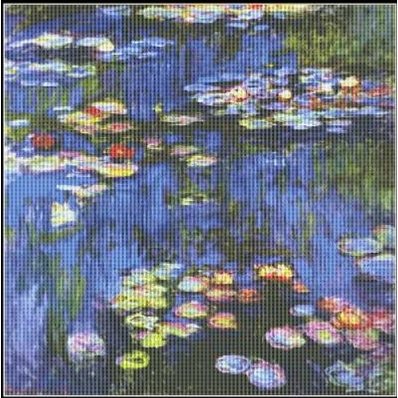 画像1: Mystic Stitch -Water Lilies Monet - Monet(モネ) 18ct クロスステッチキット (1)