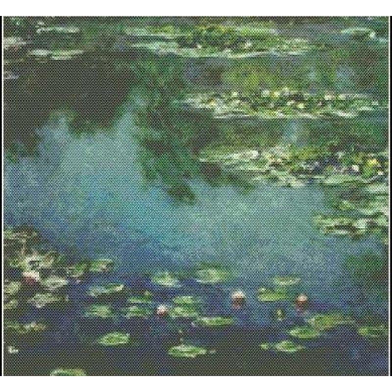 画像1: Mystic Stitch -Water Lilies IV - Monet(モネ) 18ct クロスステッチキット (1)