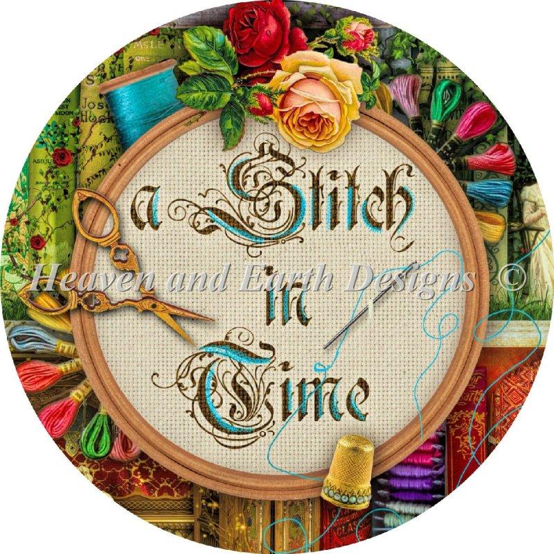 画像1: クロスステッチ図案-Ornament A Stitch In Time-Heaven and Earth Designs(HAED) (1)
