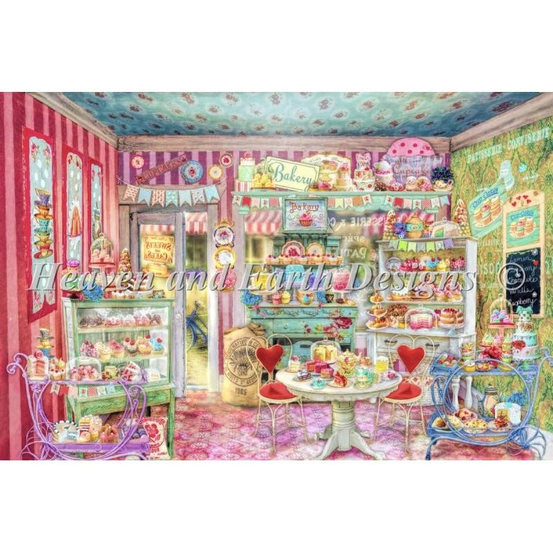 画像1: クロスステッチ図案 Supersized The Little Cake Shop Max Color -HAED(Heaven and Earth Designs) (1)