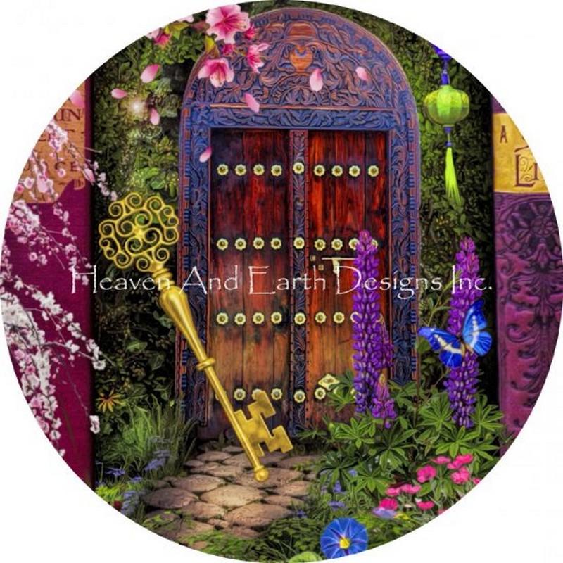 画像1: クロスステッチ図案-Ornament A Stitch In Time Key-Heaven and Earth Designs(HAED) (1)