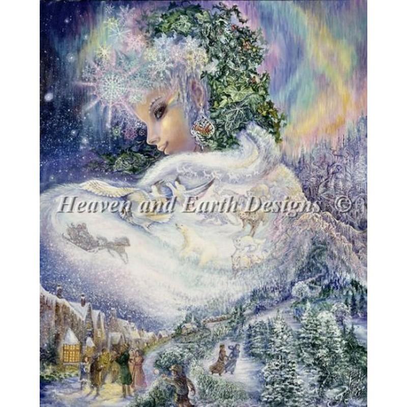 画像1: クロスステッチ図案 Mini Snow Queen-HAED(Heaven and Earth Designs) (1)