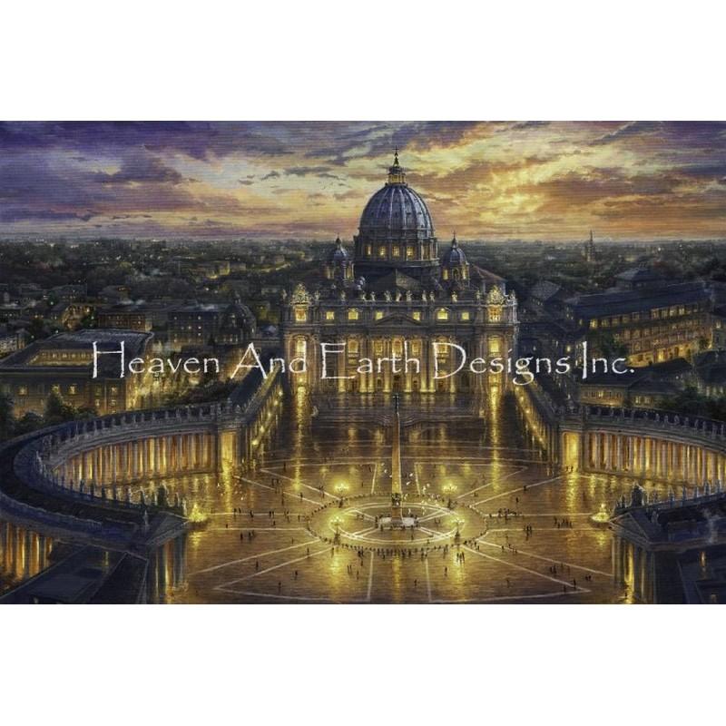 画像1: クロスステッチ図案Vatican Sunset Max Colors- HAED(Heaven and Earth Designs) (1)
