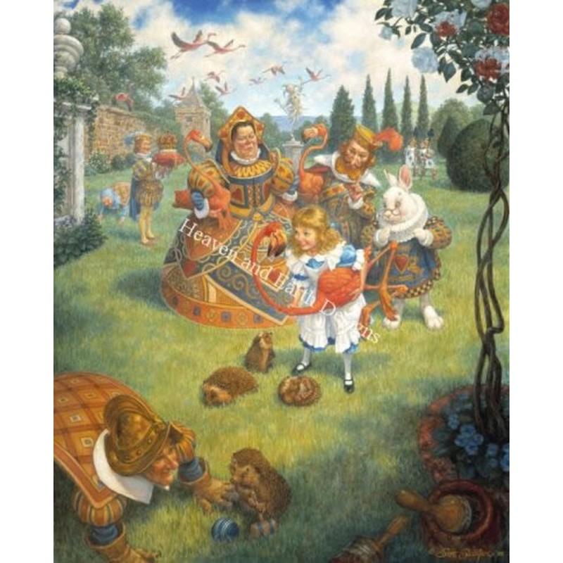 画像1: クロスステッチ図案Queen's Croquet Ground-HAED(Heaven and Earth Designs) (1)