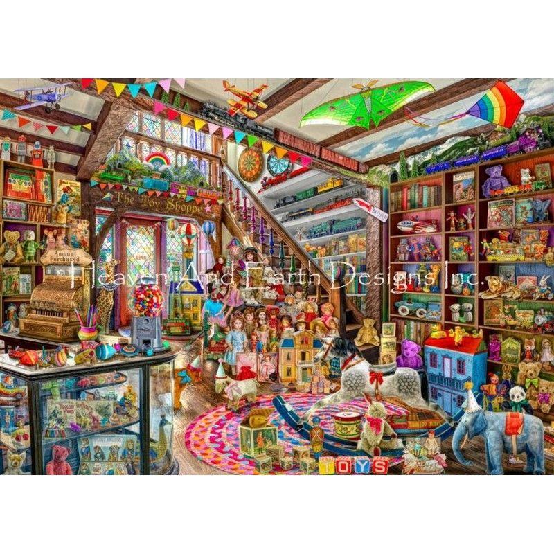 画像1: クロスステッチ図案The Toy Shoppe-HAED(Heaven and Earth Designs) (1)