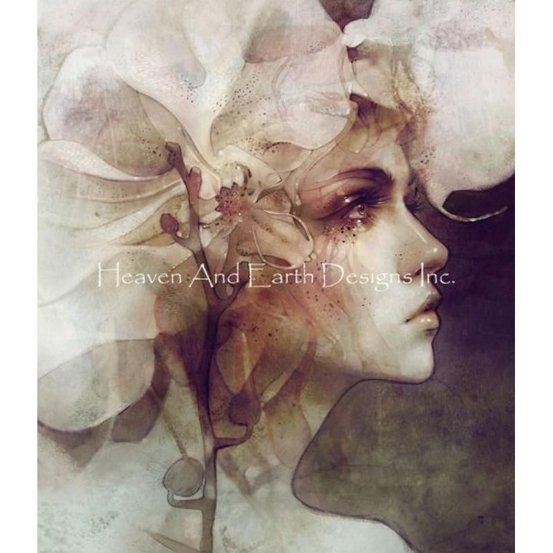 画像1: クロスステッチ図案Petal AD-HAED(Heaven and Earth Designs) (1)