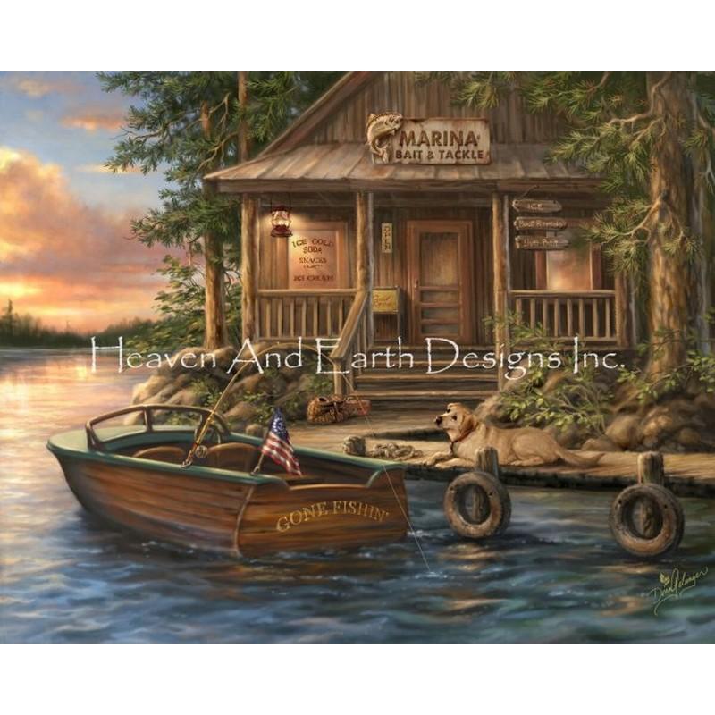 画像1: クロスステッチ図案Mini Lake Of The Woods Marina-HAED(Heaven and Earth Designs) (1)