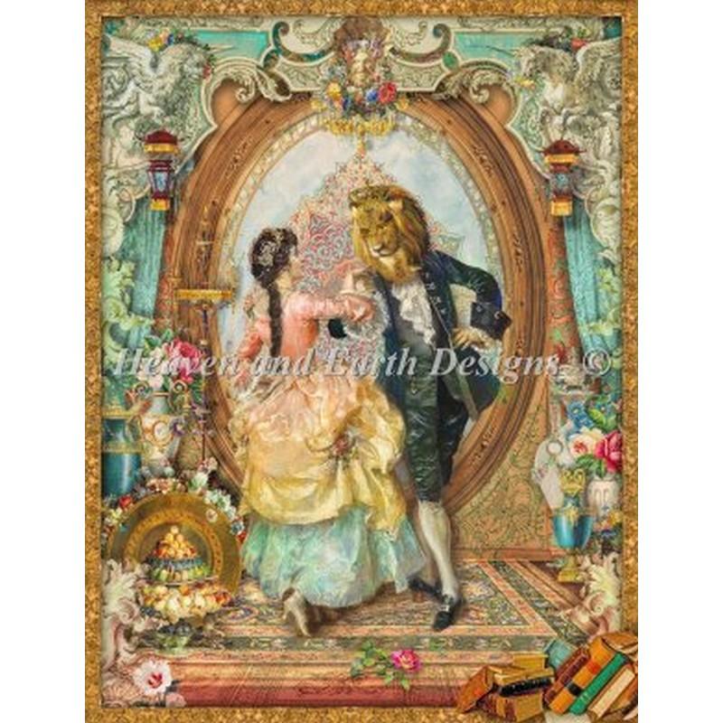 画像1: クロスステッチ図案Beauty And The Beast-HAED(Heaven and Earth Designs) (1)