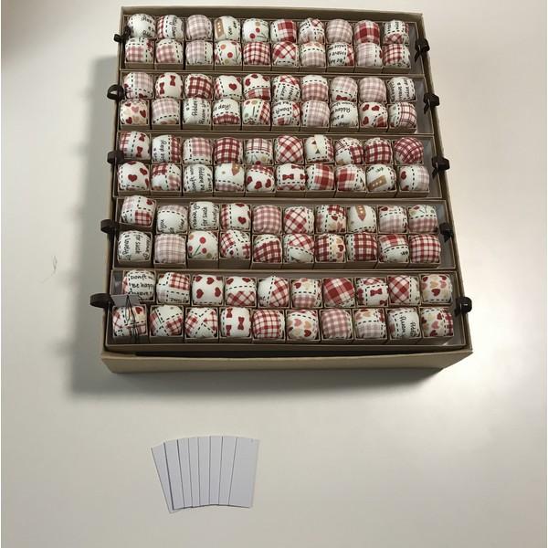 画像1: ピンクッションニードルオーガナイザーA カントリー柄100個入り箱付き (1)