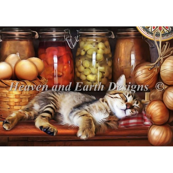 画像1: QS Ye Old Kitchen Kittenクロスステッチ キット -HAED(Heaven And Earth Designs)  (1)