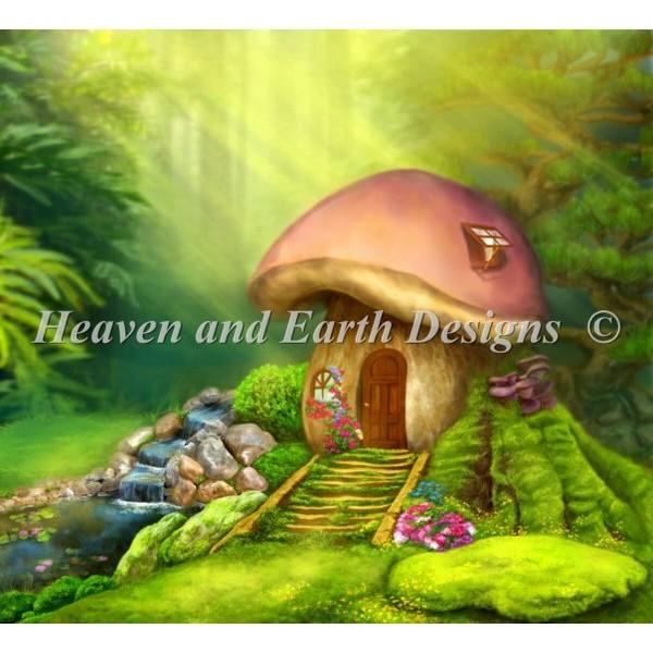 画像1: クロスステッチ図案Fantastic Lodge Mushroom-HAED(Heaven and Earth Designs) (1)