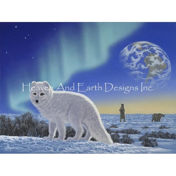 画像1: クロスステッチ図案Mini Arctic Fox-HAED(Heaven and Earth Designs) (1)