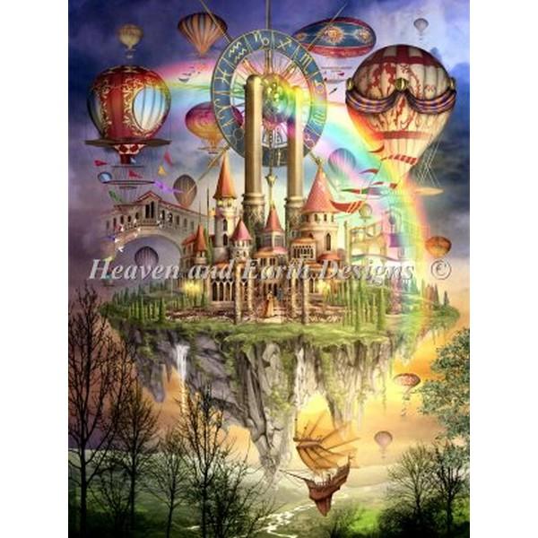 画像1: クロスステッチ キット 28ct Tarot Town II Max Color -HAED(Heaven and Earth Designs) (1)
